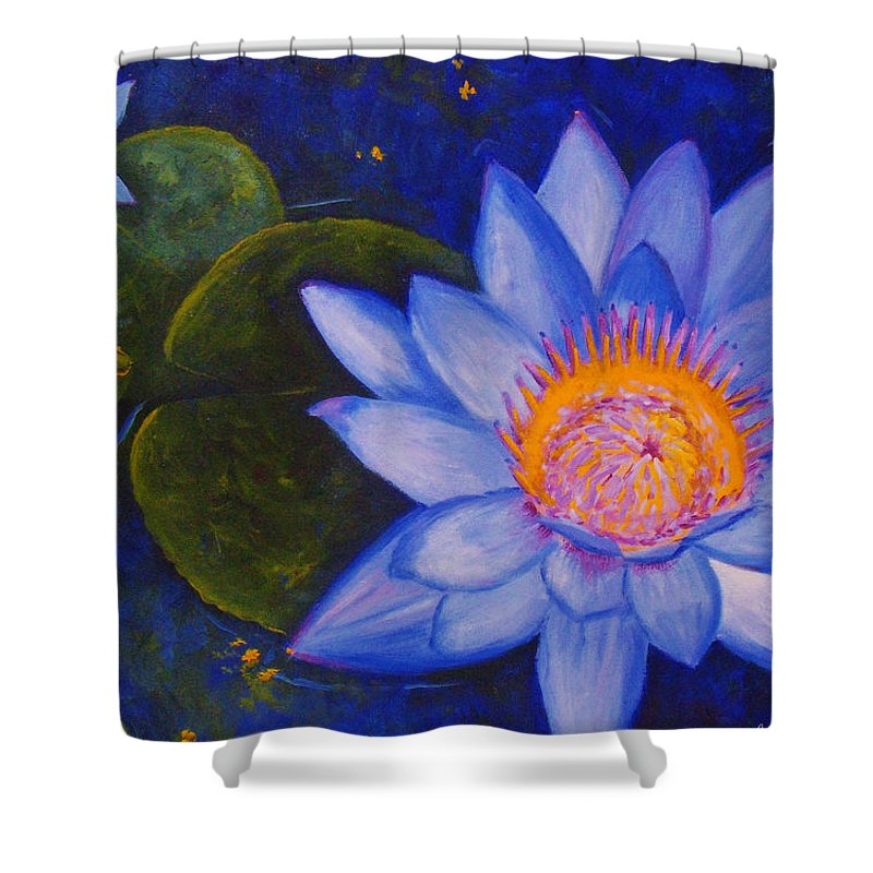 Water Lily Shower Curtain featuring the painting Water Lily by Anne Marie Brown