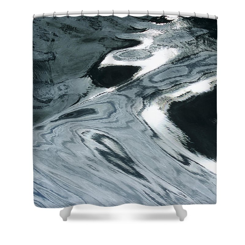 Abstract Shower Curtain featuring the photograph Water Patterns by Larry Dale Gordon - Printscapes