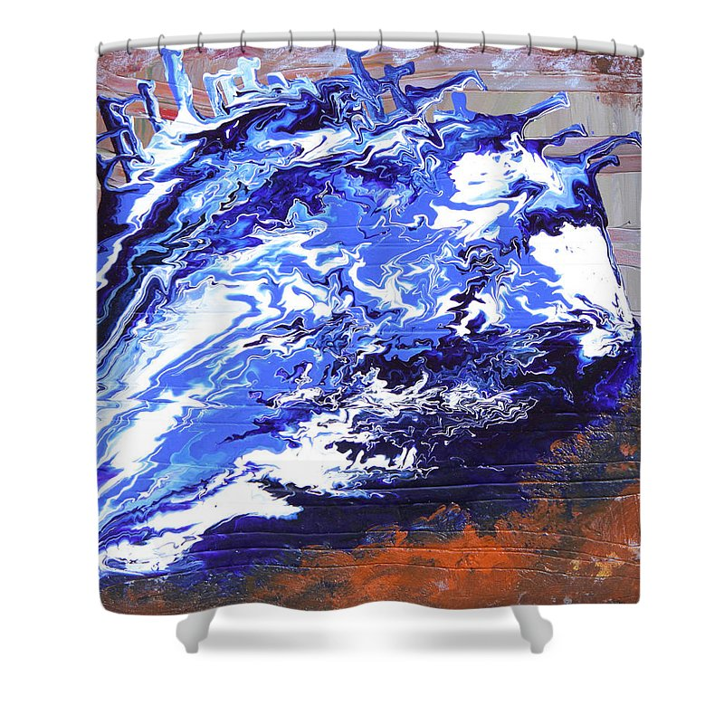 Fusionart Shower Curtain featuring the painting Water by Ralph White