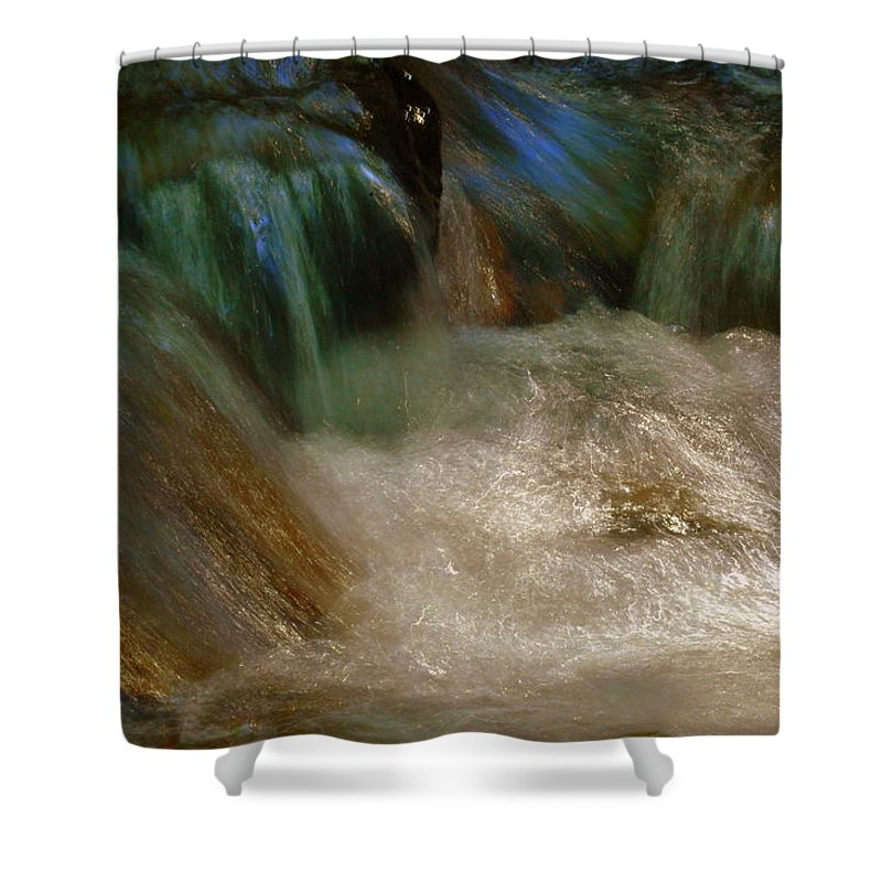 Water Shower Curtain featuring the photograph Water Rush by Shannon Nickerson
