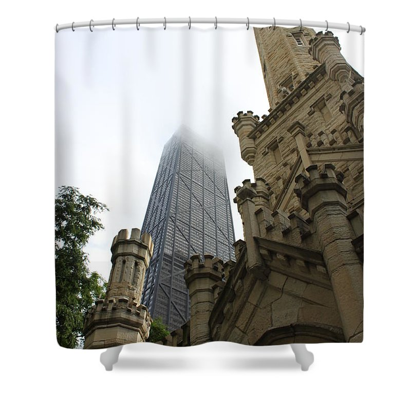 Chicago Shower Curtain featuring the photograph Water Tower And Hancock by Lauri Novak
