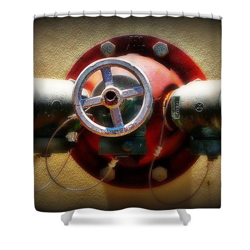 Water Shower Curtain featuring the photograph Water Valve by Perry Webster