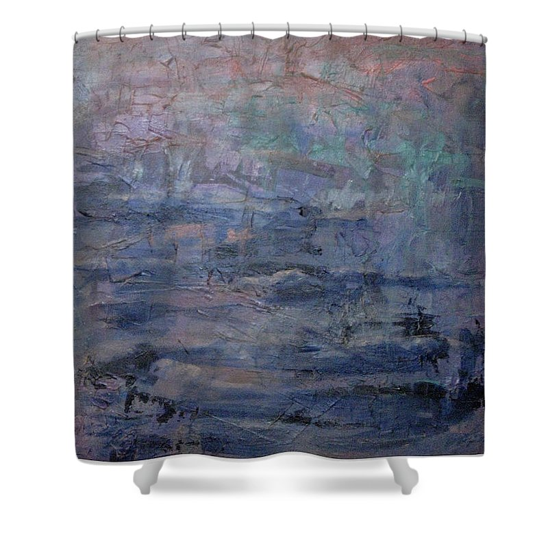 Abstract Shower Curtain featuring the painting Water Water Everywhere by Connie Freid