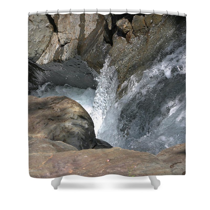 Core Shower Curtain featuring the photograph Water Womb by Dagmar Batyahav