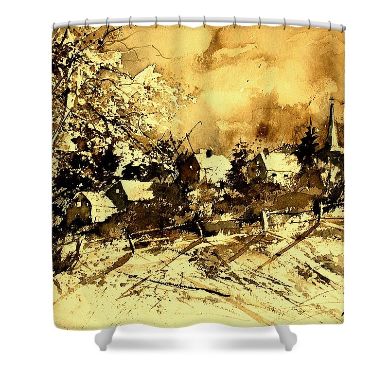 Shower Curtain featuring the painting Watercolor 01 by Pol Ledent