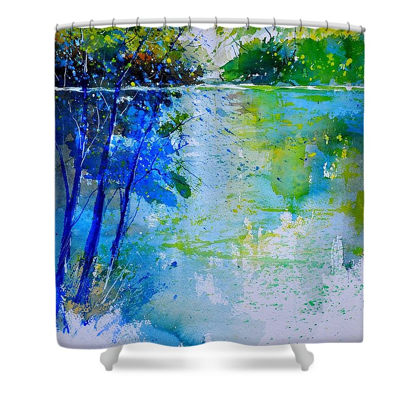Pond Shower Curtain featuring the painting Watercolor 012112 by Pol Ledent