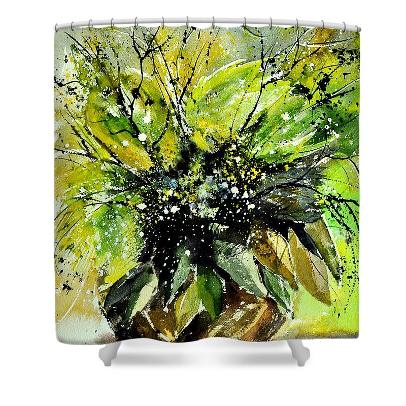 Flowers Shower Curtain featuring the painting Watercolor 016070 by Pol Ledent