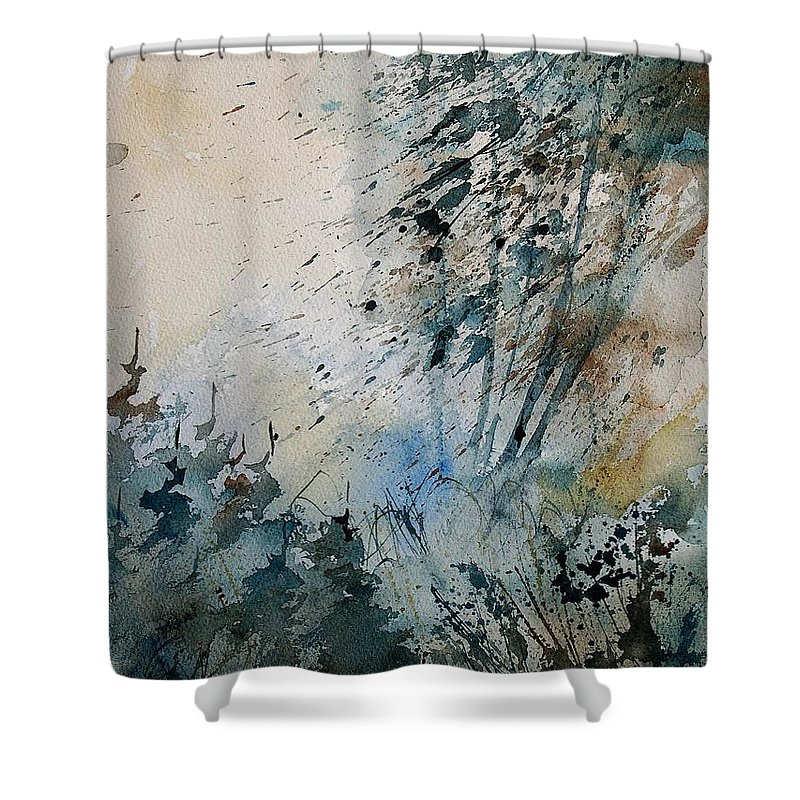 Tree Shower Curtain featuring the painting Watercolor 148708 by Pol Ledent