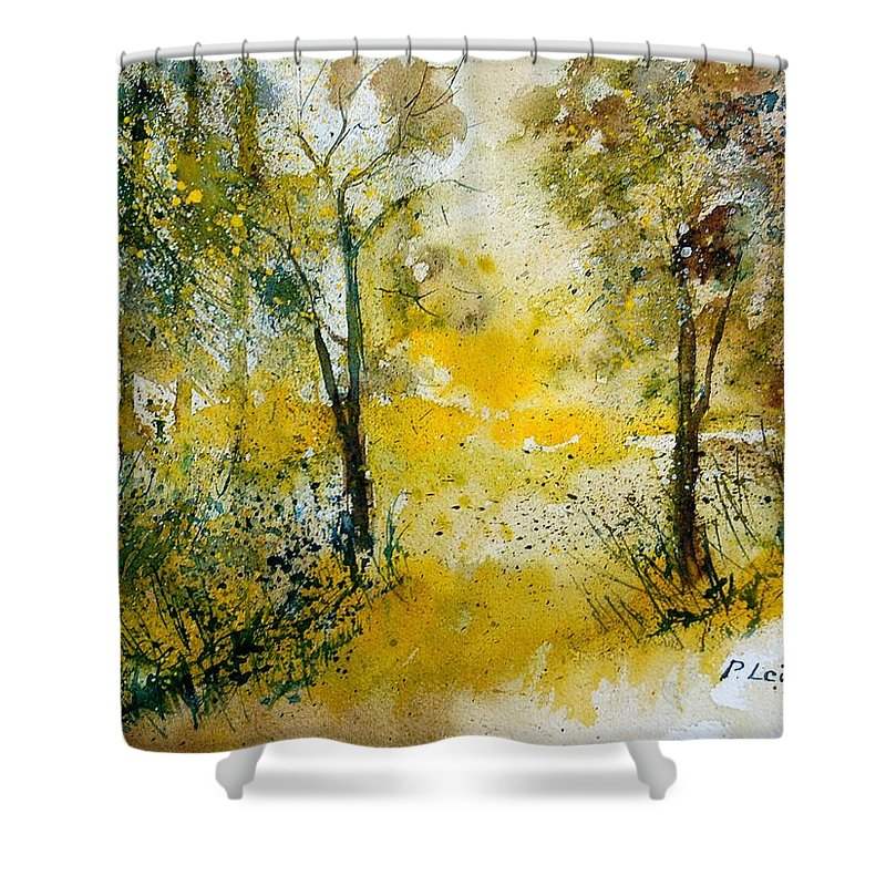 River Shower Curtain featuring the painting Watercolor 210108 by Pol Ledent