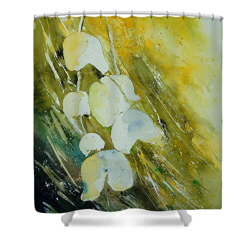 Flowers Shower Curtain featuring the painting Watercolor 220508 by Pol Ledent