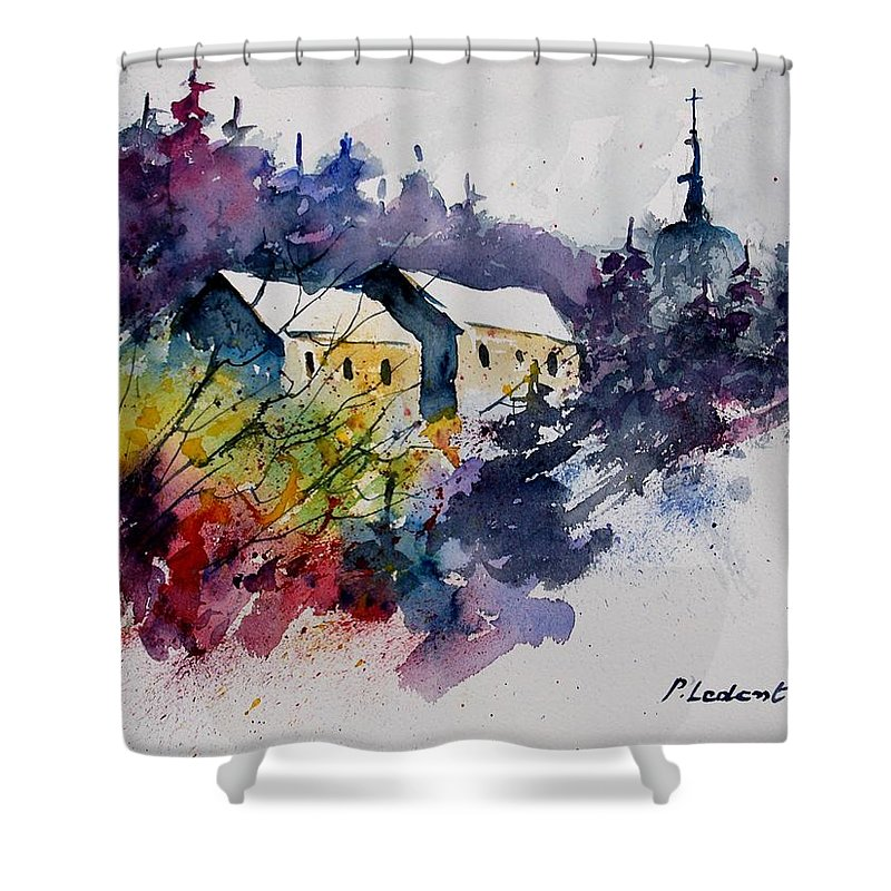River Shower Curtain featuring the painting Watercolor 231207 by Pol Ledent