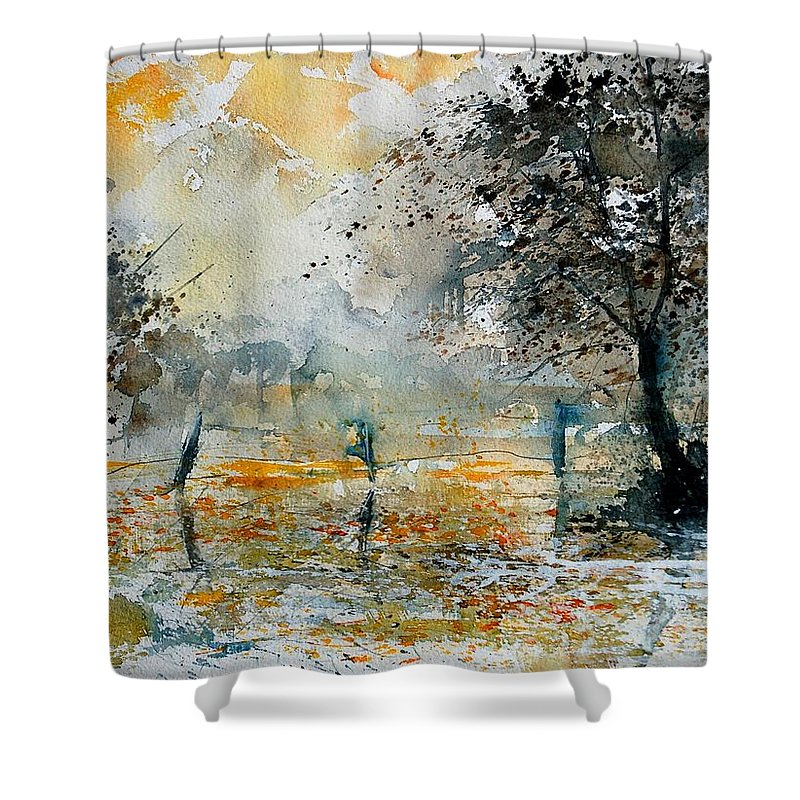 Water Shower Curtain featuring the painting Watercolor 261006 by Pol Ledent
