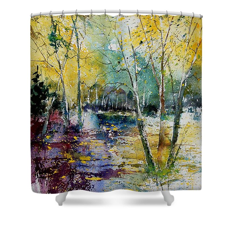 Pond Shower Curtain featuring the painting Watercolor 280809 by Pol Ledent