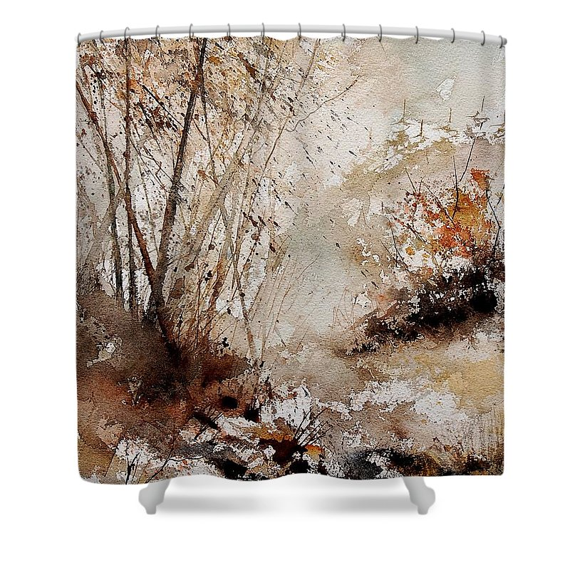 Tree Shower Curtain featuring the painting Watercolor 290808 by Pol Ledent