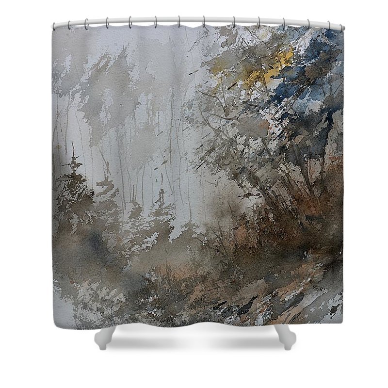 Landscape Shower Curtain featuring the painting Watercolor 614010 by Pol Ledent