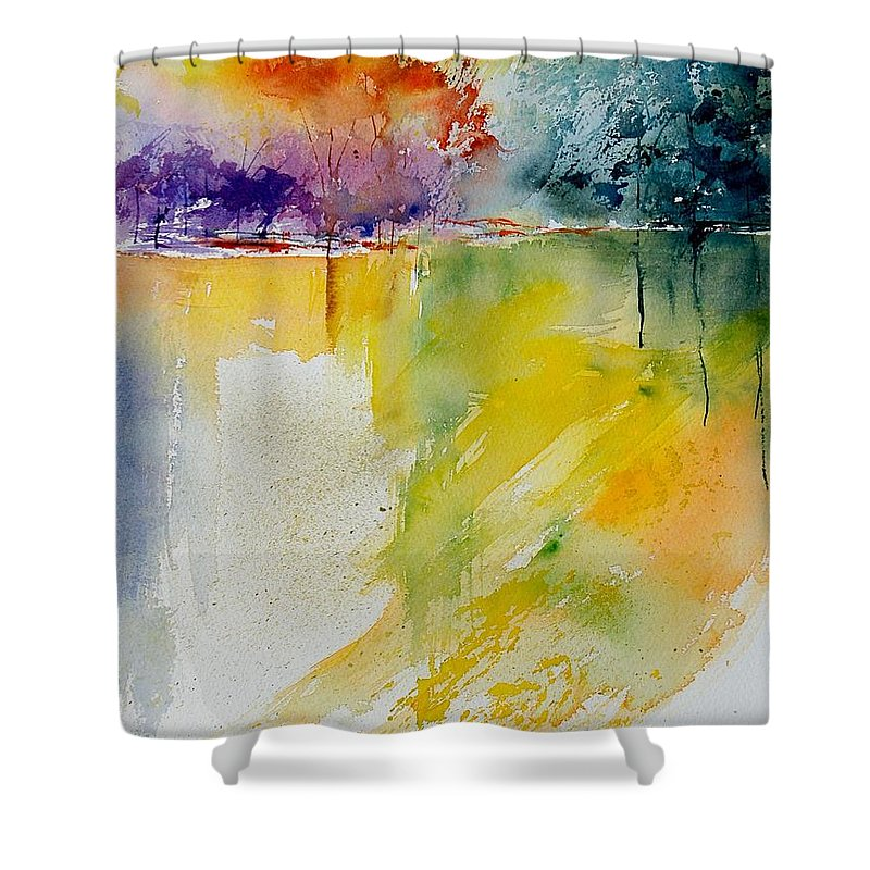 Pond Shower Curtain featuring the painting Watercolor 800142 by Pol Ledent