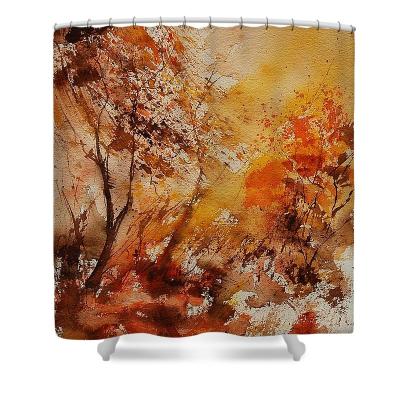 Tree Shower Curtain featuring the painting Watercolor 903071 by Pol Ledent