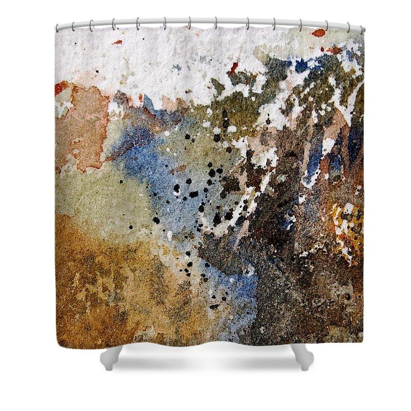 Abstract Shower Curtain featuring the painting Watercolor 9050223 by Pol Ledent