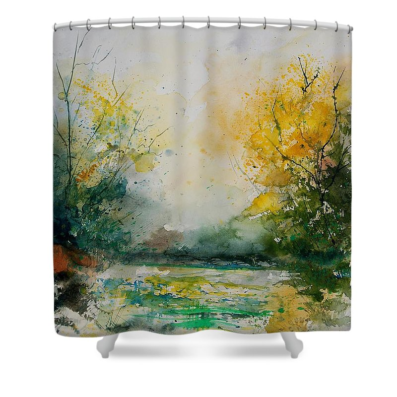 Water Shower Curtain featuring the painting Watercolor 905081 by Pol Ledent
