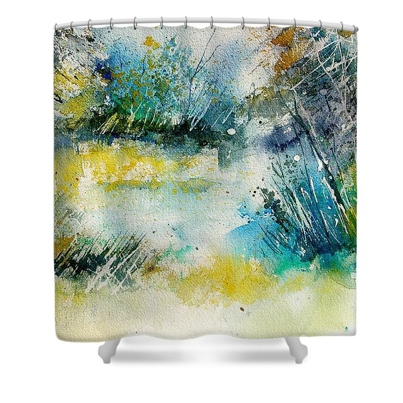 Water Shower Curtain featuring the painting Watercolor 906020 by Pol Ledent