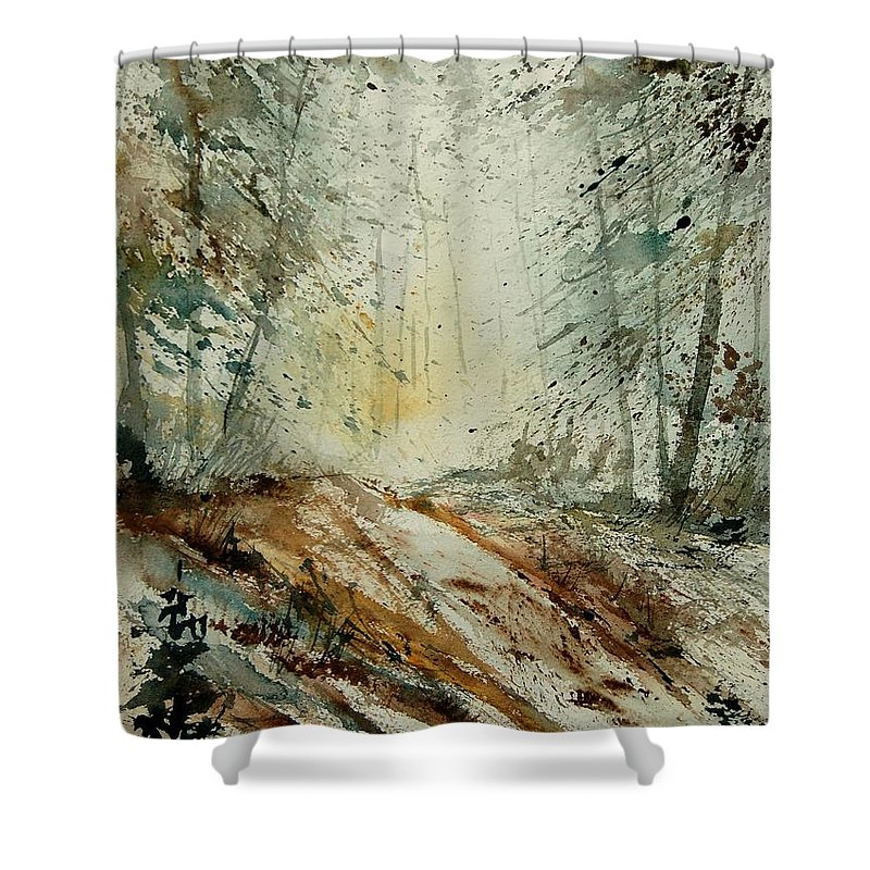 River Shower Curtain featuring the painting Watercolor 907013 by Pol Ledent