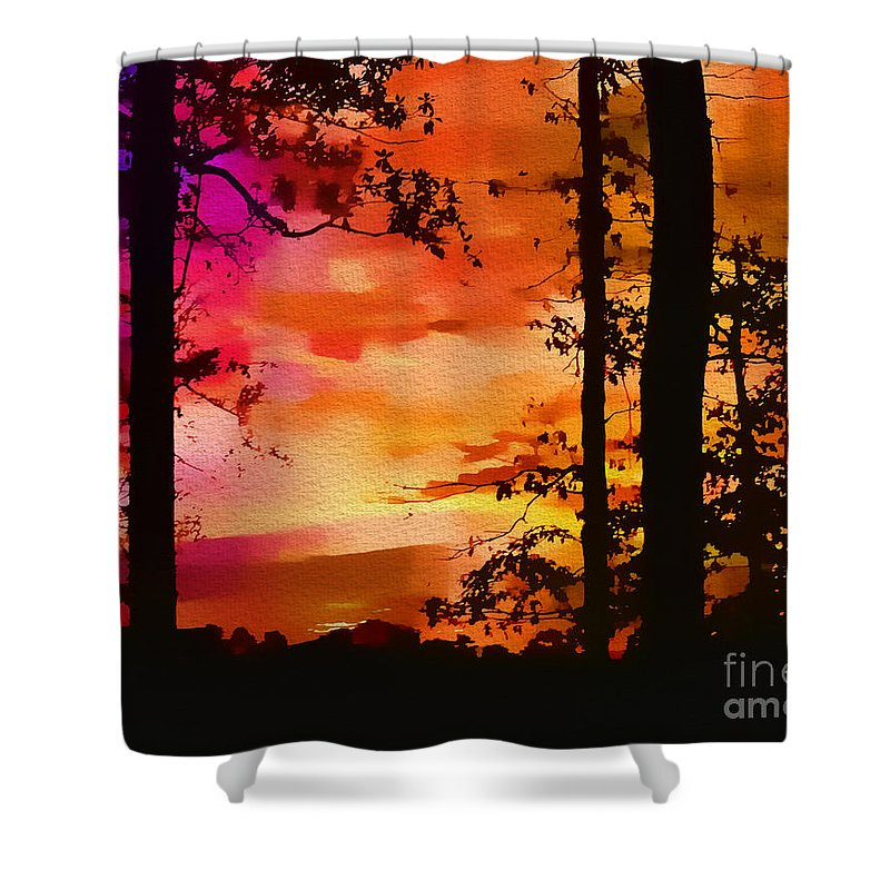 Water Shower Curtain featuring the photograph Watercolor Sunrise by Judi Bagwell