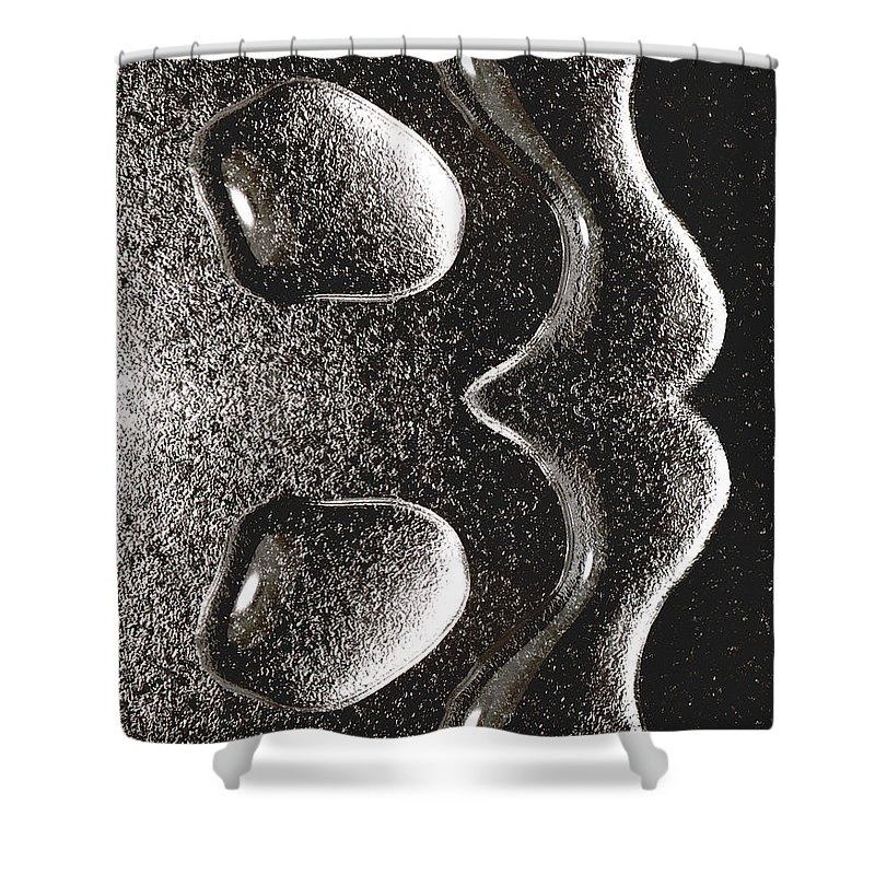 Water Shower Curtain featuring the photograph Waterdrop 1 by Nancy Mueller