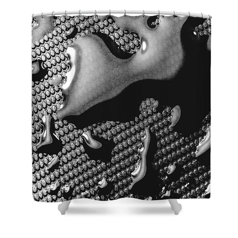 Water Drop Shower Curtain featuring the photograph Waterdrop 5 by Nancy Mueller