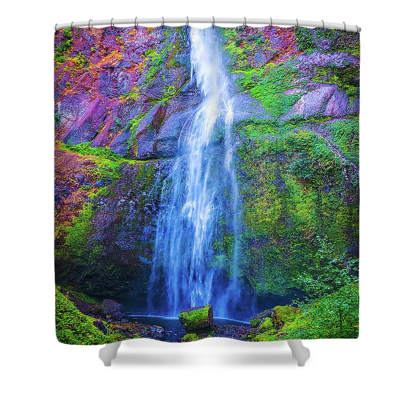 Waterfall Shower Curtain featuring the photograph Waterfall 3 by Jason Brooks