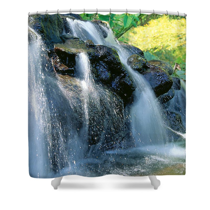 Active Shower Curtain featuring the photograph Waterfall Close-up by Bill Brennan - Printscapes