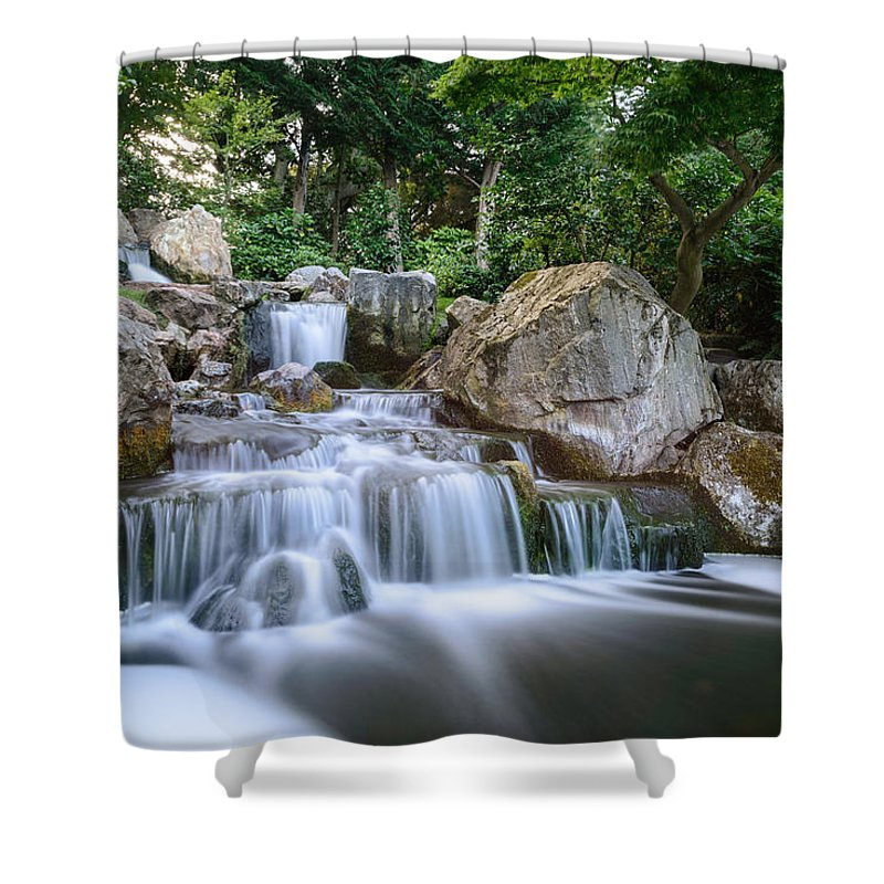 Waterfall Shower Curtain featuring the photograph Waterfall by Ivelin Donchev
