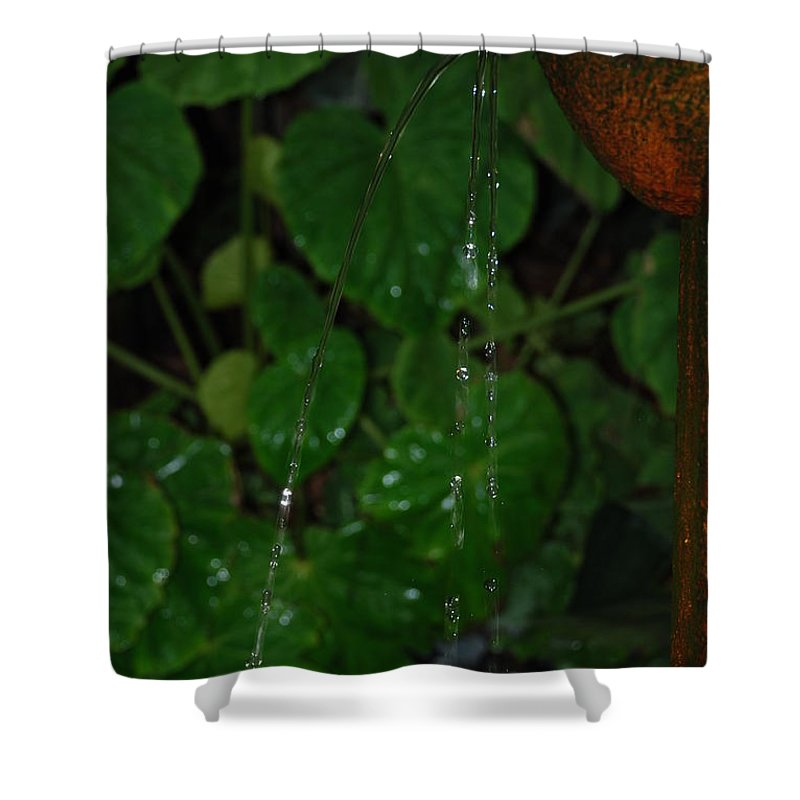 Macro Shower Curtain featuring the photograph Waterfall by Rob Hans
