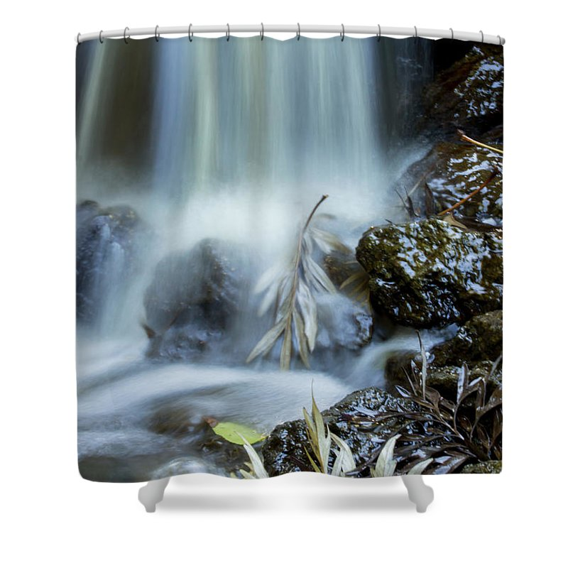 Waterfall Shower Curtain featuring the photograph Waterfall Silllife by Susan Westervelt