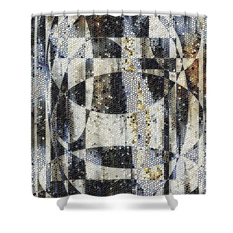 Mosaic Shower Curtain featuring the photograph Waterfalling by Tim Allen