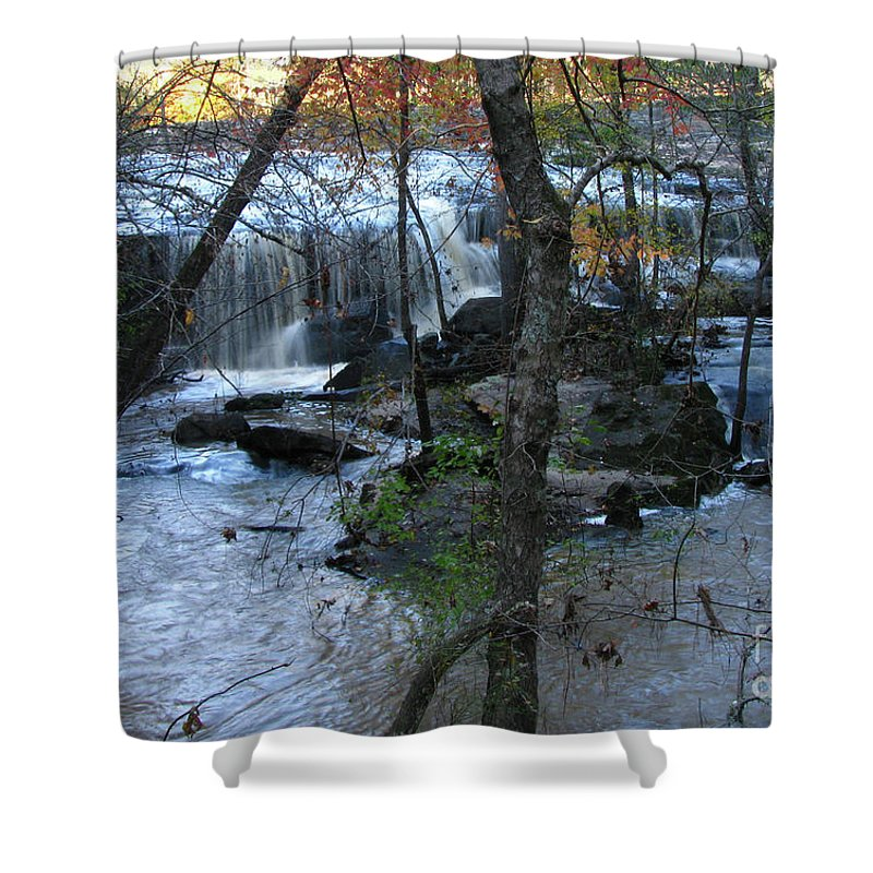 Water Shower Curtain featuring the photograph Waterfalls In Morning by Donna Brown