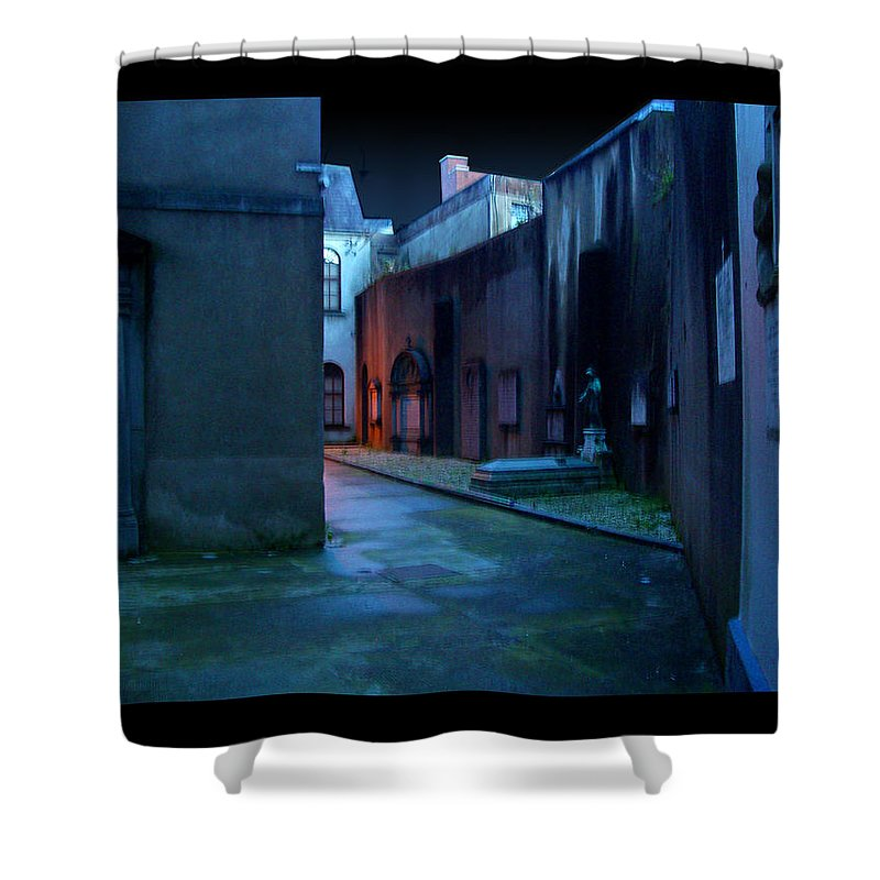 Waterford Shower Curtain featuring the photograph Waterford Alley by Tim Nyberg