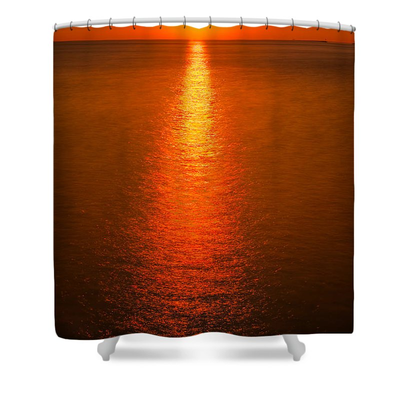 Lake Shower Curtain featuring the photograph Waterfront Sunrise by Steve Gadomski