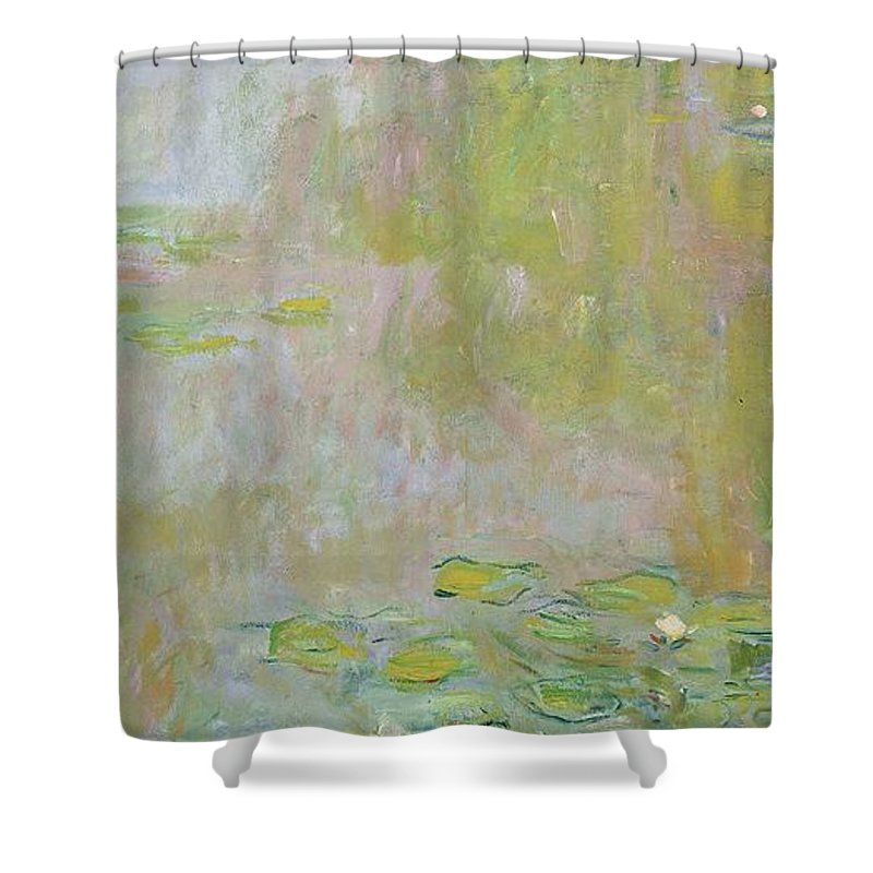 Waterlilies At Giverny Shower Curtain featuring the painting Waterlilies at Giverny by Claude Monet