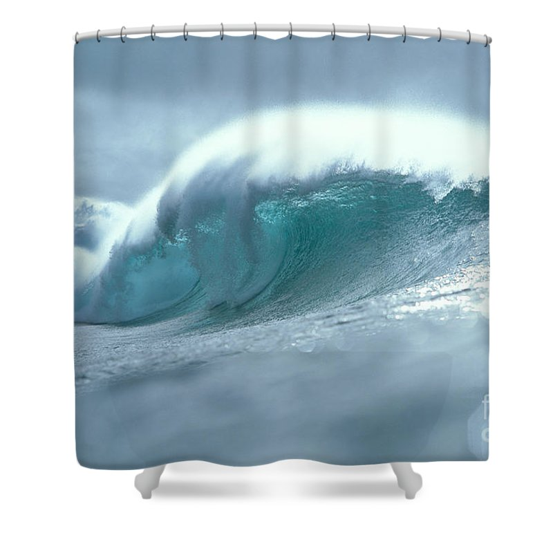 Afternoon Shower Curtain featuring the photograph Wave And Spray by Vince Cavataio - Printscapes