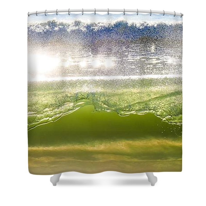 Wave Shower Curtain featuring the photograph Wave Glass by Dave Castro