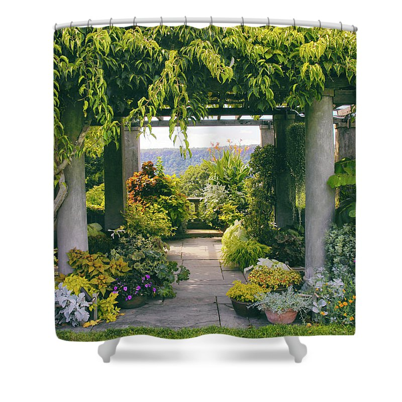 Landscape. Garden Shower Curtain featuring the photograph Wave Hill by Jessica Jenney