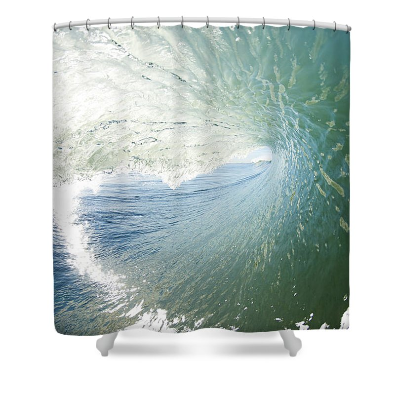 Amazing Shower Curtain featuring the photograph Wave In Motion by MakenaStockMedia