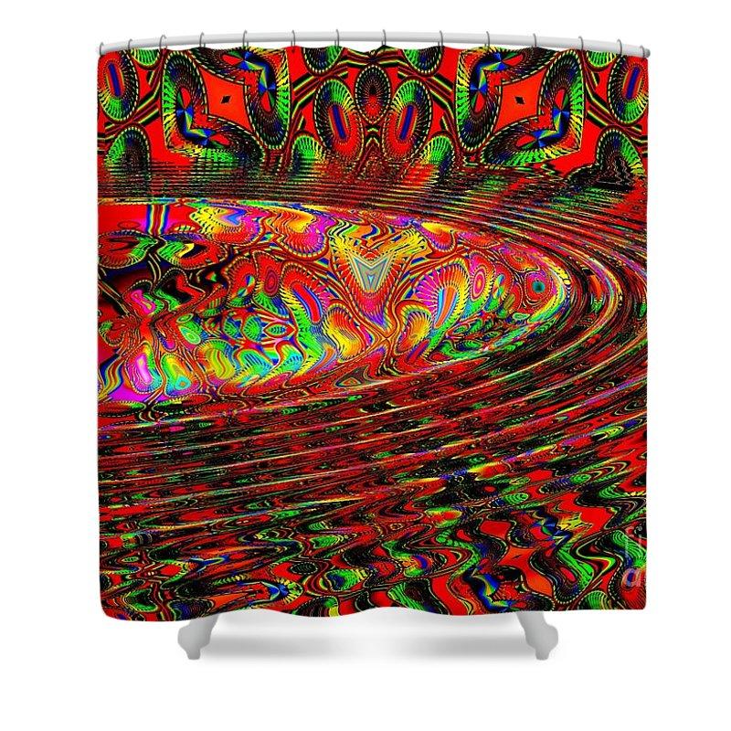 Wave Shower Curtain featuring the digital art Wave Length by Robert Orinski