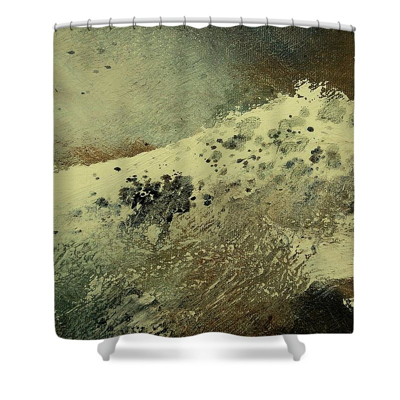 Sea Shower Curtain featuring the painting Wave by Pol Ledent