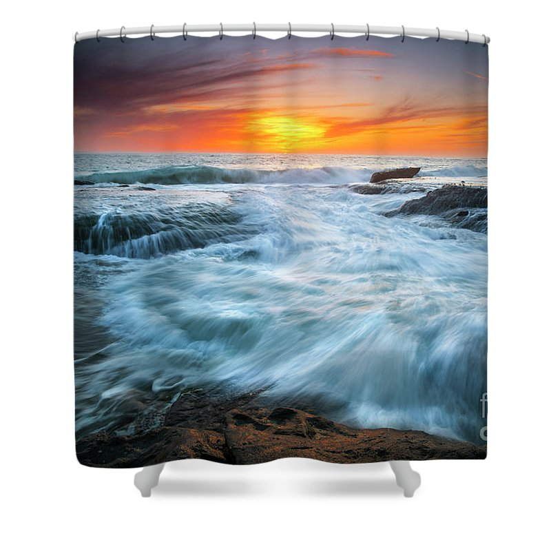 Shower Curtain featuring the photograph Wave by Vu Nguyen