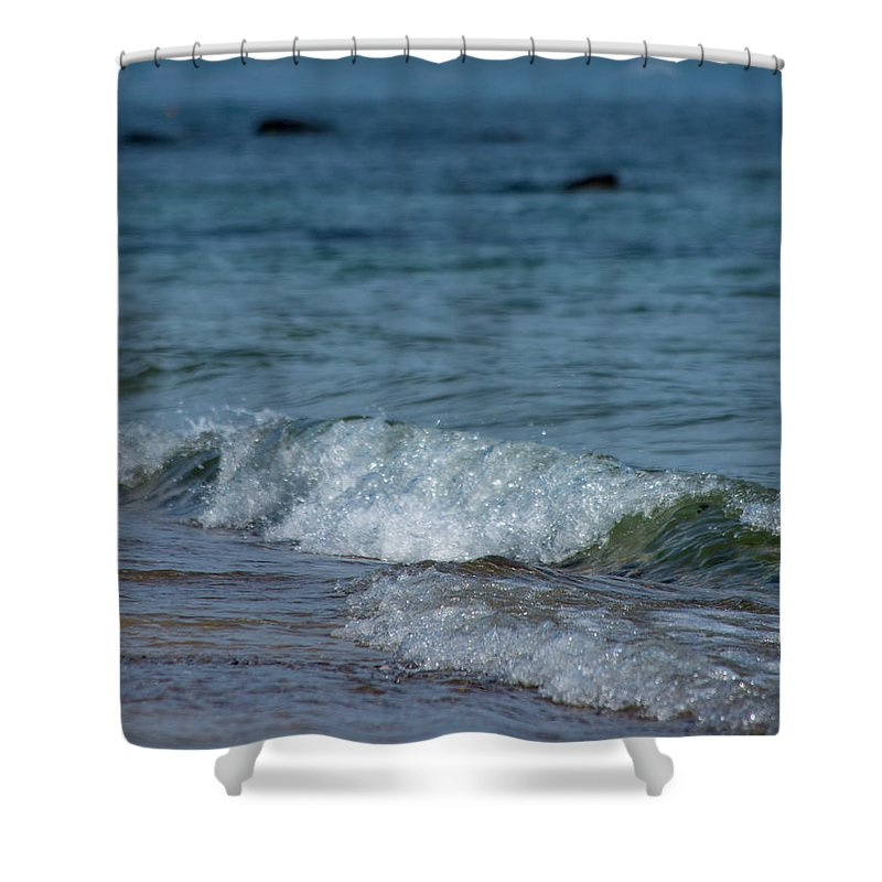Waves Shower Curtain featuring the photograph Waves by ChelleAnne Paradis