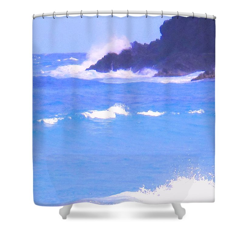 Ocean Shower Curtain featuring the photograph Waves Crashing by Ian MacDonald
