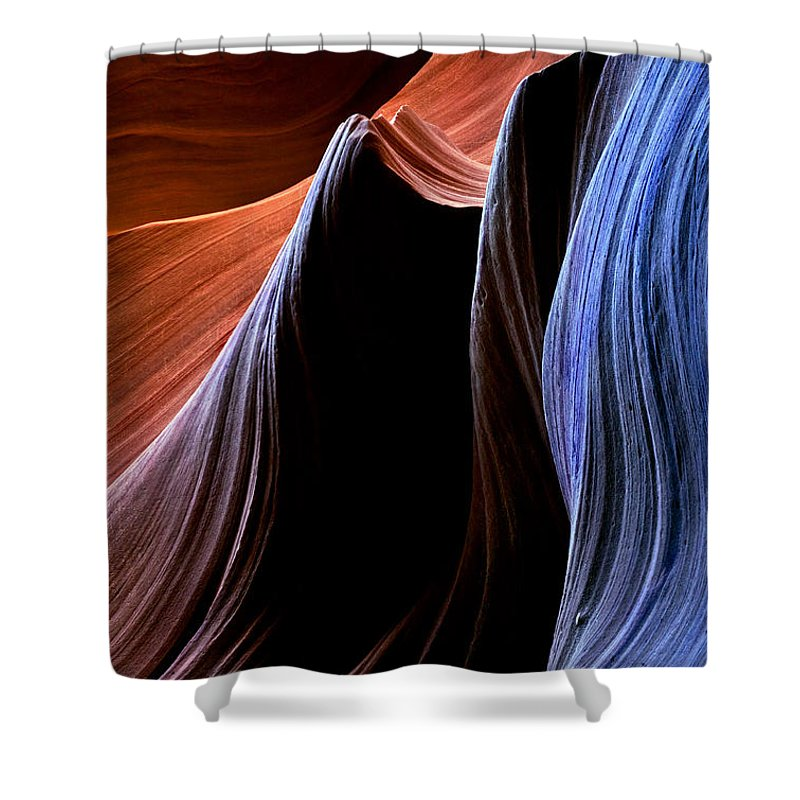 Sandstone Shower Curtain featuring the photograph Waves by Mike Dawson