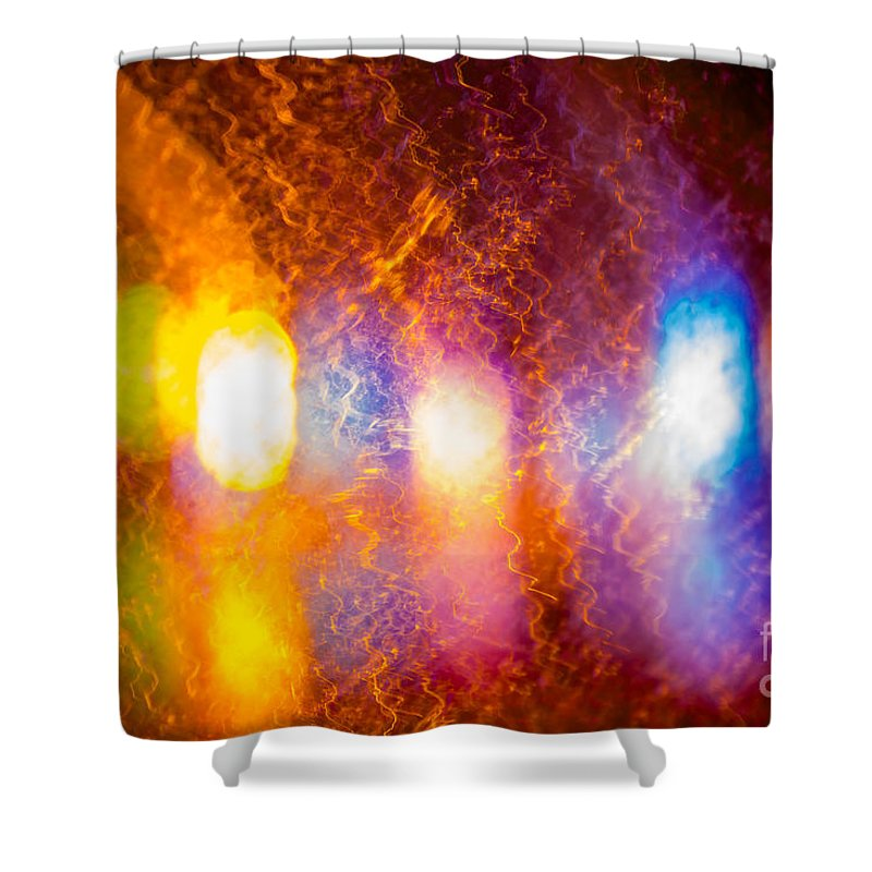 Background Shower Curtain featuring the photograph Waves Of Colour by Prasad Sirinayake