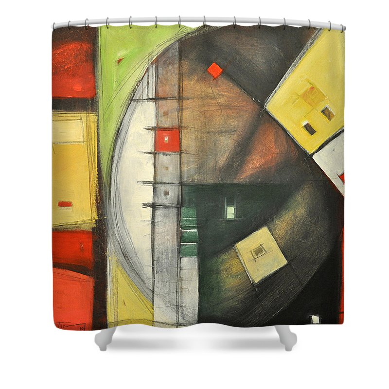 Abstract Shower Curtain featuring the painting Way Out by Tim Nyberg